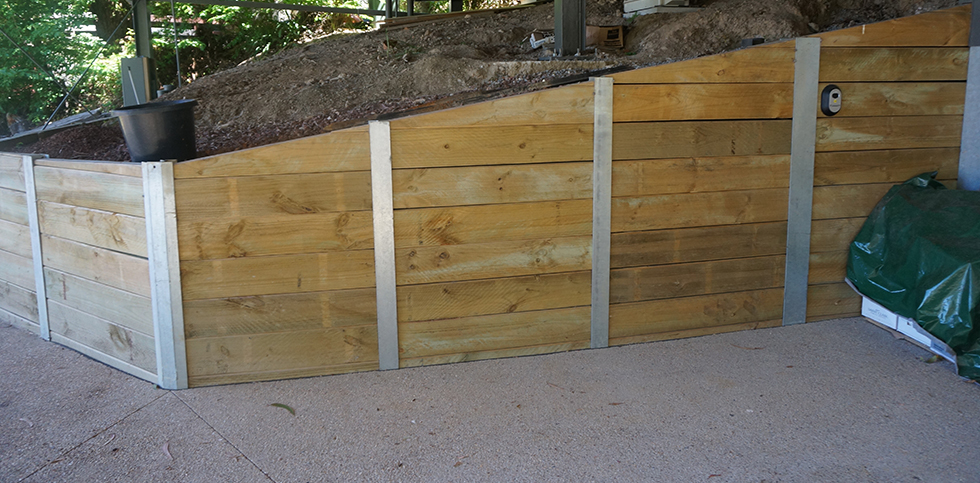 Lorne concreting retaining walls for Building on a slope cost